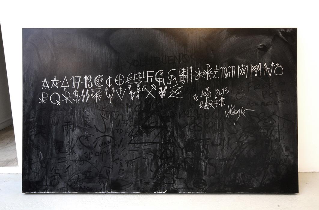 Jacques-Villegle-et-Lek-&-Sowat-Traces-Directs-Tableau-Noir-Collection-Permanante-Centre-Pompidou-Photo-Par-Nicolas-Gzeley