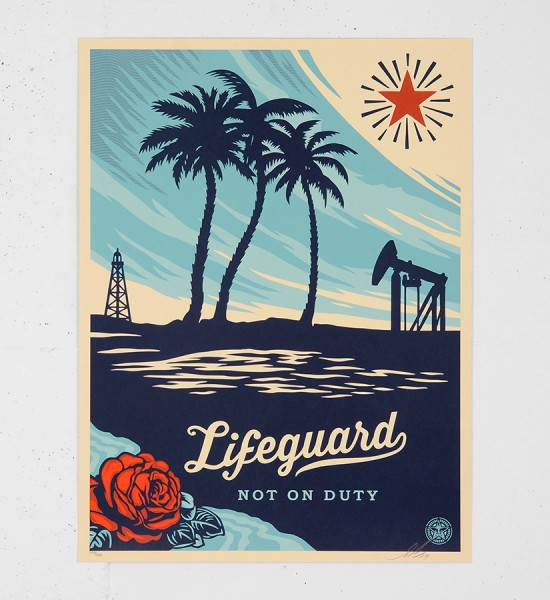 obey-shepard-fairey-Lifeguard Not On Duty-serigraphie obey giant screen print soldart.com buy sell art acheter vendre oeuvre art sold art galerie art urbain en ligne online street art gallery 1