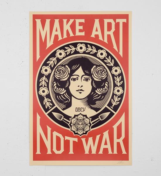 obey-shepard-fairey-make-art-not-war obey giant offset print soldart.com buy sell art acheter vendre oeuvre art sold art galerie art urbain en ligne online street art gallery -1