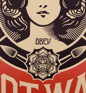 obey-shepard-fairey-make-art-not-war obey giant offset print soldart.com buy sell art acheter vendre oeuvre art sold art galerie art urbain en ligne online street art gallery 3