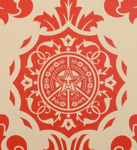 obey-shepard-fairey-parlor pattern cream set serigraphie screenprint soldart.com buy sell art acheter vendre oeuvre art galerie art en ligne online street art gallery-4