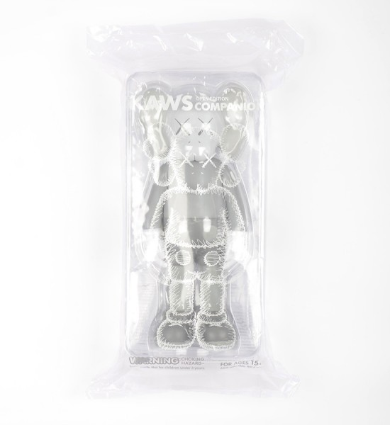 "Entitled ""Companion (Grey)"", this art toys by Kaws is an open edition. Made in 2016, format is 10,6 x 4,3 inches (27 x 11 cm). The work is sold in its original box."