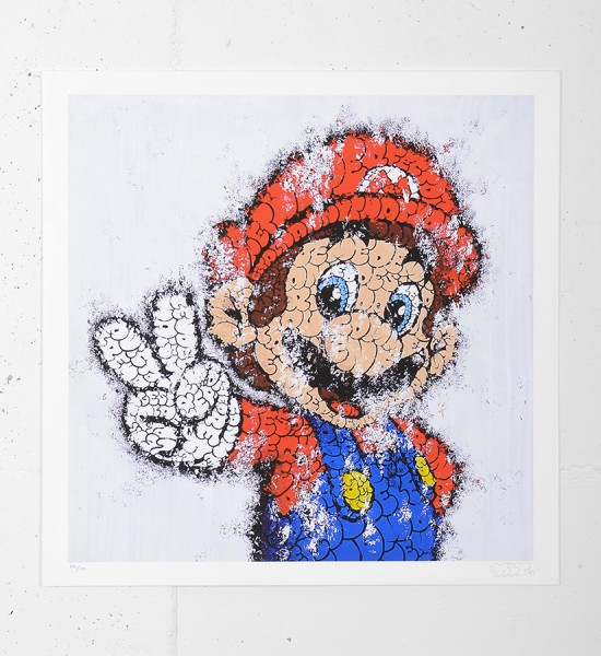 "Entitled ""Super Mario"", this giclee print by Tilt is an edition of 100 + 15 artist's proof. Made in august 2012, it is signed and numbered 100/100 by the artist. Format : 17 x 17 inches (43 x 43 cm). The work is sold unframed."
