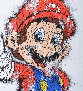 Tilt Super Mario giclee print artwork impression oeuvre detail
