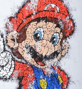 Tilt Super Mario giclee print artwork impression oeuvre detail