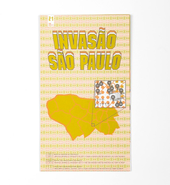 "Entitled ""Invasao Sao Paulo"", this map by Invader was made in 2011. Format : 23,6 x 16,5 inches (48 x 42 cm)."