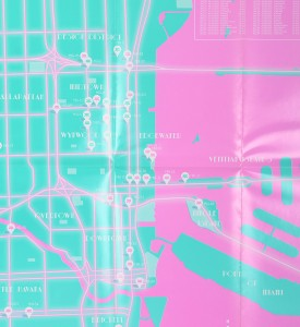 Invader Invasion of Miami map plan guide 2012 detail 2