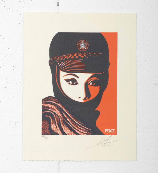 "Entitled ""Mujer fatale letterpress"", this letterpress by Shepard Fairey (Obey) is an edition of 450. Made in september 2015, it is signed and numbered by the artist. Format : 10 x 13 inches (25,4 x 33 cm). The work is sold unframed."