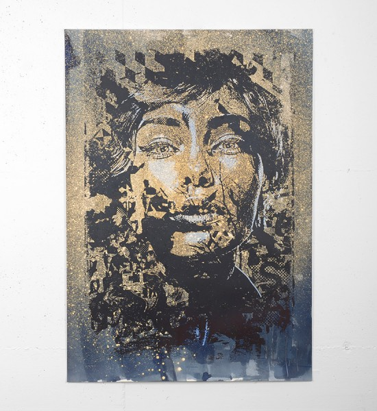"Entitled ""Tenuous"", this screen print is enhanced with ink by Vhils is an edition of 250. Made in 2016, it is signed and numbered by the artist. Format : 39,3 x 27,5 inches (100 x 70 cm). The work is sold unframed."