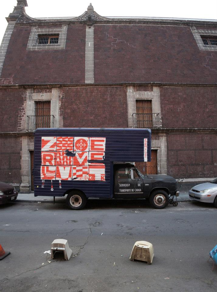 Zoer & Velvet • Mexico 2013 - Composition on truck