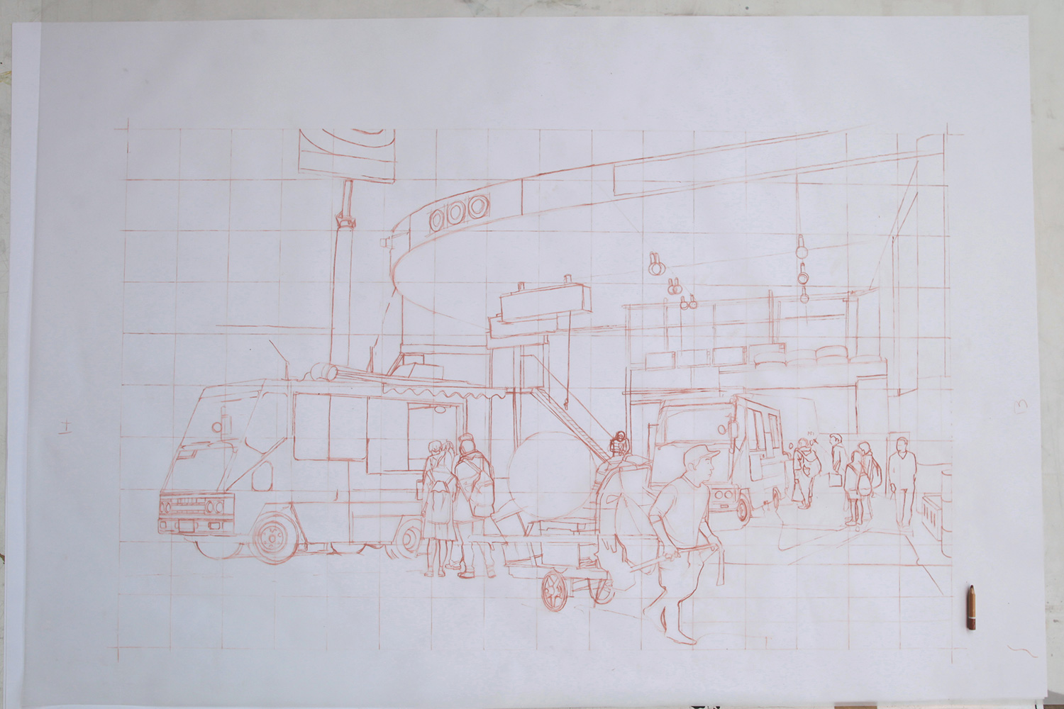 zoer_velvet_street_food_lithographie_CSX_stone_lithograph_urdla_graffiti_process_zoerism_printing_print_fine_art_publisher_craftsmanship_film_soldart_tokyo_japan_edition_royx_nicolas_royol_4