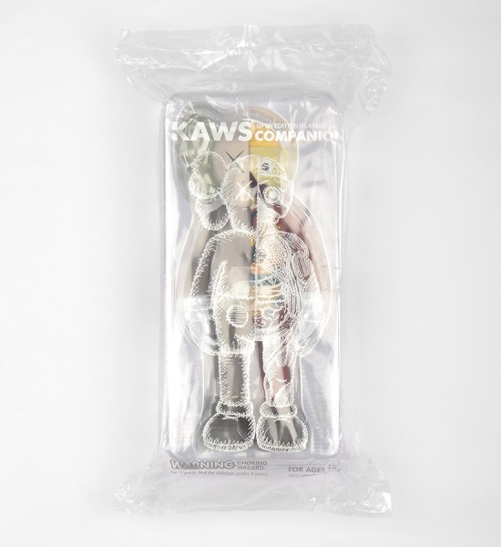 "Entitled ""Companion (Flayed Brown)"", this art toys by Kaws is an open edition. Made in 2016, format is 10,6 x 4,3 inches (27 x 11 cm). The work is sold in its original box."