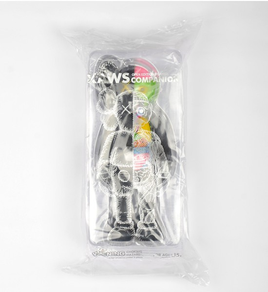 "Entitled ""Companion (Flayed Black)"", this art toys by Kaws is an open edition. Made in 2016, format is 10,6 x 4,3 inches (27 x 11 cm). The work is sold in its original box."
