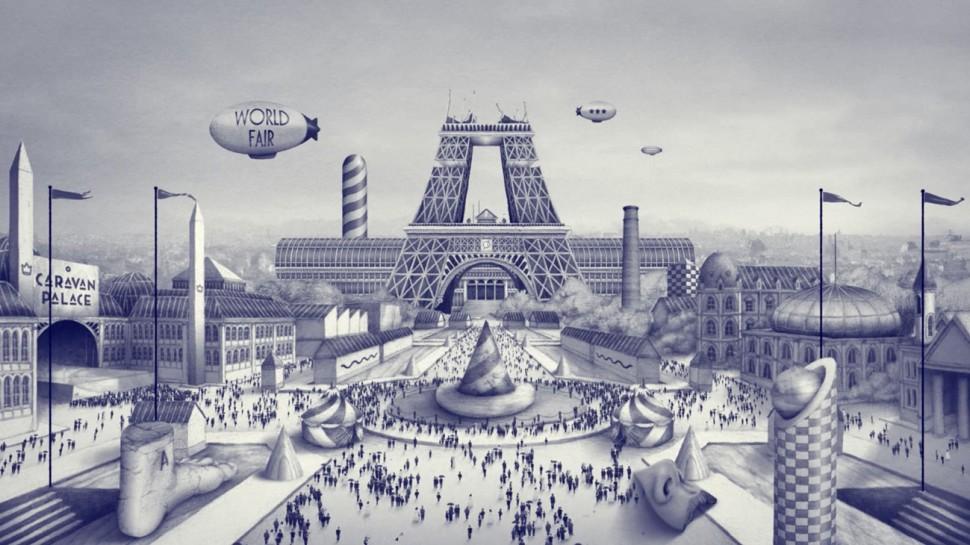 Ugo Gattoni caravan palace album project video clip illustration