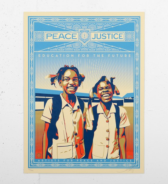 shepard-fairey-obey-Peace-&-Justice-Haiti-screen print-serigraphie-signed-numbered-1