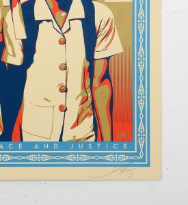 shepard-fairey-obey-Peace-&-Justice-Haiti-screen print-serigraphie-signed-numbered-3