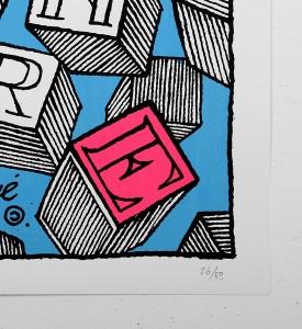 Andre_Saraiva_andre et anabelle_screen print_serigraphie_art_pink_blue_violet_le baron paris_monsieur A Mr A sold art urbain galerie soldart 3