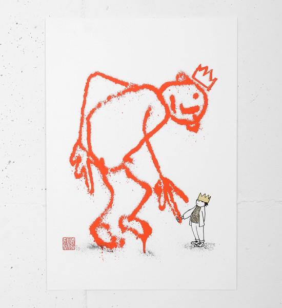 Ella-Pitr-Papiers-Peintres-kingz-silkscreen-print-serigraphie-oeuvre-soldart-gallery-galerie-street-art-saint-etienne