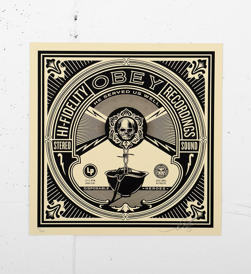 Shepard fairey obey print 44 screen print for Buy street art online
