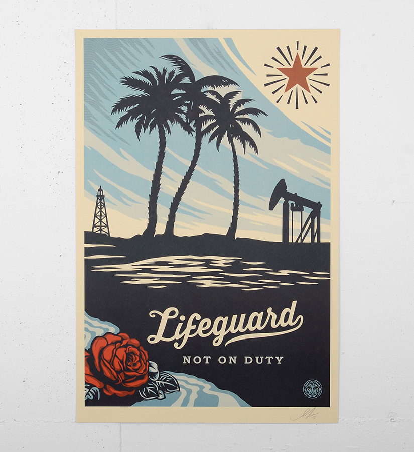 Shepard fairey obey lifeguard not on duty offset print for Sell art prints online