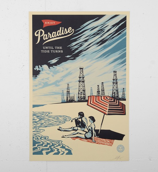 Obey_shepard_fairey_PARADISE-TURNS-SIGNED-offset_print-POSTER-obey giant galerie art en ligne online street art gallery buy sell art acheter vendre oeuvre art soldart.com