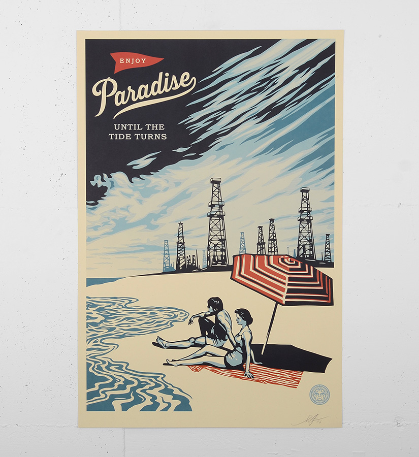 Shepard fairey obey paradise turns offset print for Buy street art online