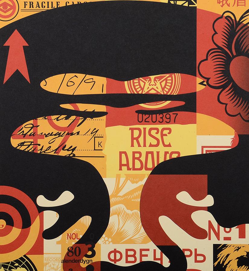 shepard fairey obey obey 3 face collage 1 artwork. Black Bedroom Furniture Sets. Home Design Ideas