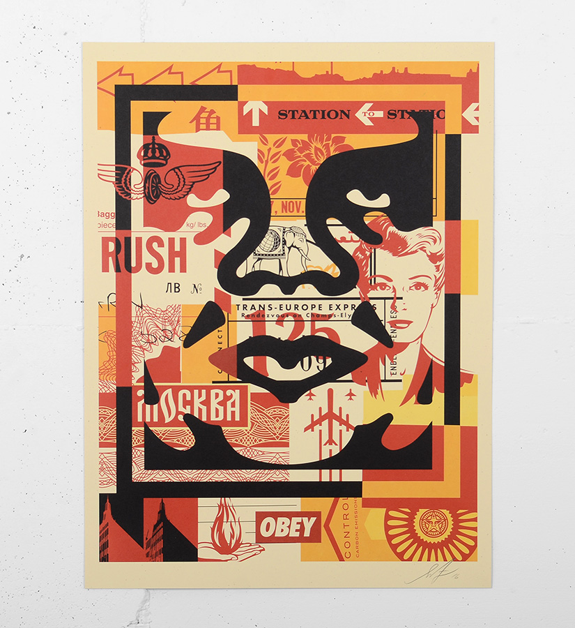 Shepard fairey obey obey 3 face collage 2 artwork for Buy street art online