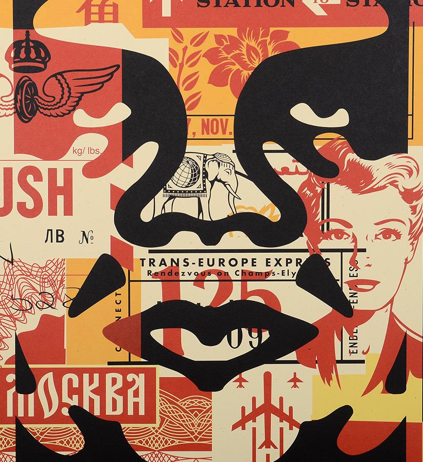 shepard fairey obey obey 3 face collage 2 artwork. Black Bedroom Furniture Sets. Home Design Ideas