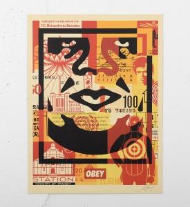 Obey_shepard_fairey_print_OBEY-3-FACE-COLLAGE-offset obey giant galerie art en ligne online street art gallery buy sell art acheter vendre oeuvre art soldart.com