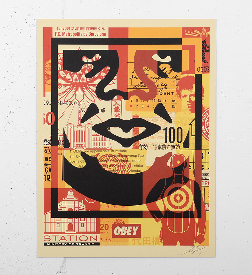 Shepard Fairey (Obey) - Obey 3 face collage (set) • Artworks