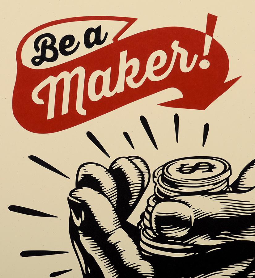 Shepard fairey obey corporate welfare screen print for Be a maker