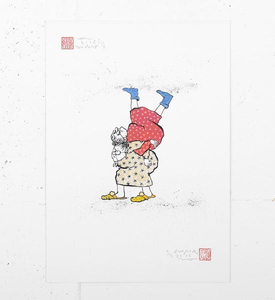 ella et pitr_ellapitr_serigraphie_screen print_dessin art work oeuvre mamies_-scarabees_art_street_geant_anamorphose_16