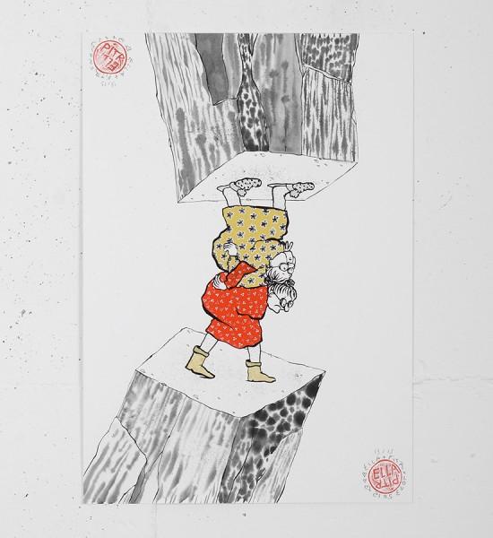 ella_pitr_ellapitr_serigraphie_print_mamies-scarabees_art_street_geant_anamorphose_screen print hand painted multiple soldart galerie art gallery-