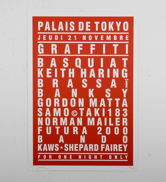 Andre Saraiva print serigraphie art banksy palais tokyo paris graffiti keith haring basquiat brassai futura 2000 bando monsieur A Mr A sold art