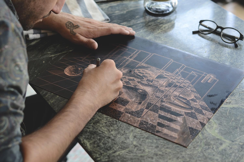 ugo-gattoni-sybille-bath-etching-eau-forte-gravure-edition-pointe-seche-cuivre-copper-taille-douce-sold-art-37