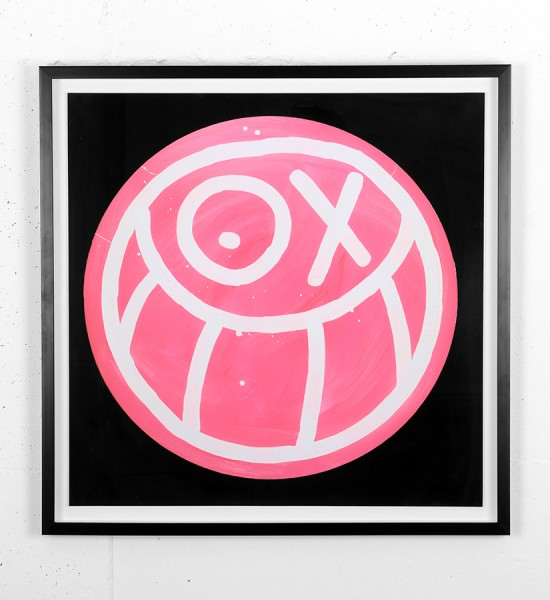 Andre Saraiva Pink Mr. A on Black Background print soldart online art gallery_1