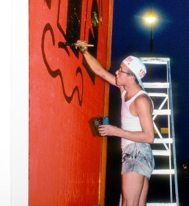 Martha Cooper Keith Haring photo artwork houston bowery wall mural new york 1982 soldart gallery online_2
