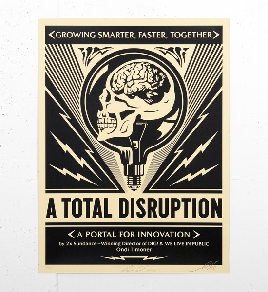 Shepard Fairey Obey A total disruption screen print serigraphie signed numbered limited edition sold art online gallery sell buy art_3