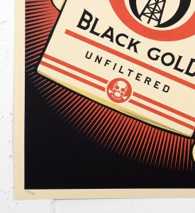 Shepard Fairey Obey Black gold screen print serigraphie signed numbered limited edition sold art online gallery sell buy art_3