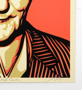 Shepard Fairey Obey Kate Simon Burroughs 100 years screen print serigraphie signed numbered limited edition sold art online gallery sell buy art_2