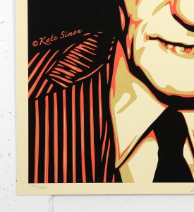 Shepard Fairey Obey Kate Simon Burroughs 100 years screen print serigraphie signed numbered limited edition sold art online gallery sell buy art_3