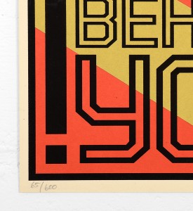 Shepard Fairey Obey behind you 2009 screen print serigraphie signed numbered limited edition sold art online gallery sell buy art_2