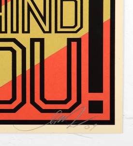 Shepard Fairey Obey behind you 2009 screen print serigraphie signed numbered limited edition sold art online gallery sell buy art_4