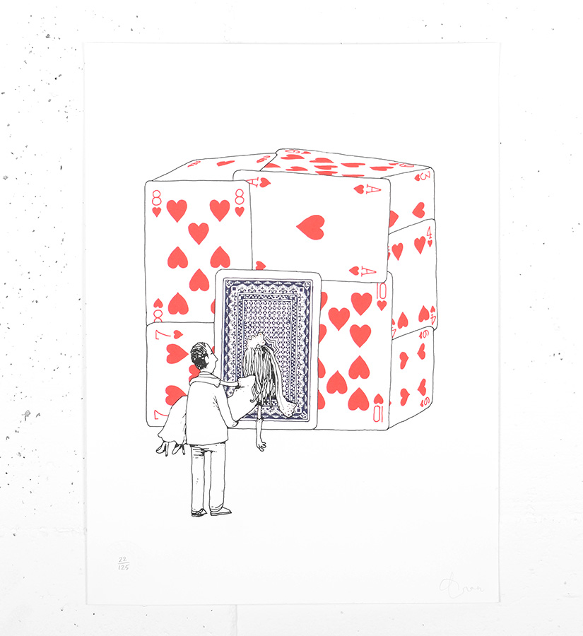 Dran house of cards screen print limited edition for Sell art prints online