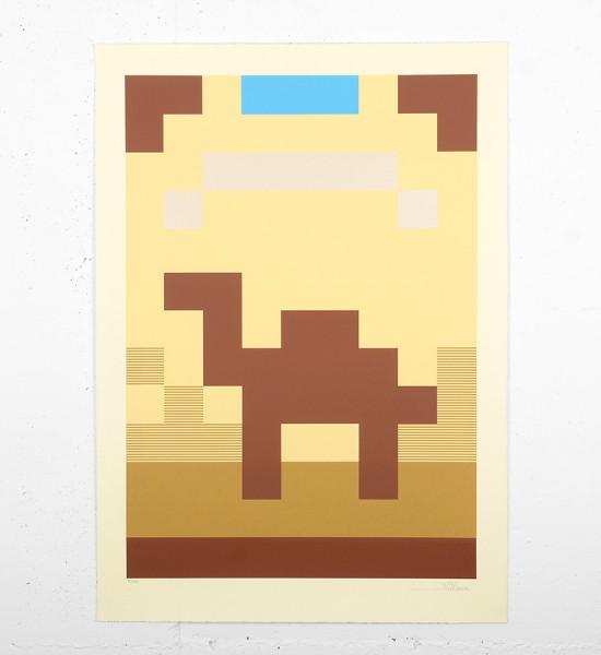 Invader camel silkscreen print serigraphie limited edition space shop_1