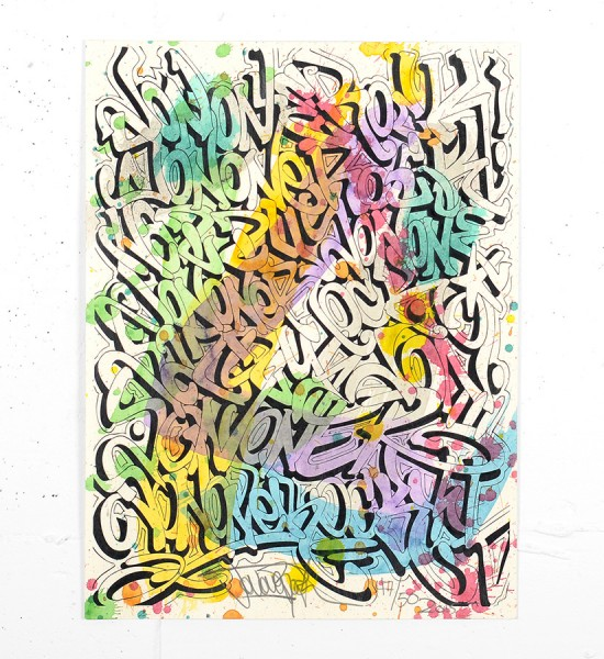 Jonone Fireworks screen print enhanced serigraphie rehaussee John Andrew Perello graffiti Jon156 art_1