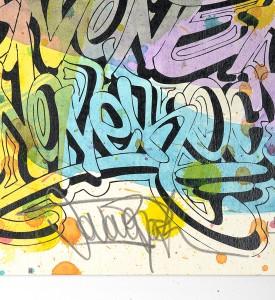 Jonone Fireworks screenprint enhanced serigraphie rehaussee John Andrew Perello graffiti Jon156 art signature_3