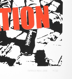Patrice Poch Lost generation screen print serigraphie music group band limited edition signed numbered_4