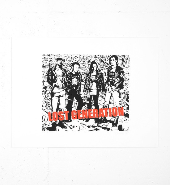 Patrice Poch Lost generation screen print serigraphie music group band limited edition_1